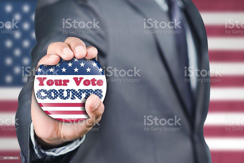 Encouraging to vote stock photo