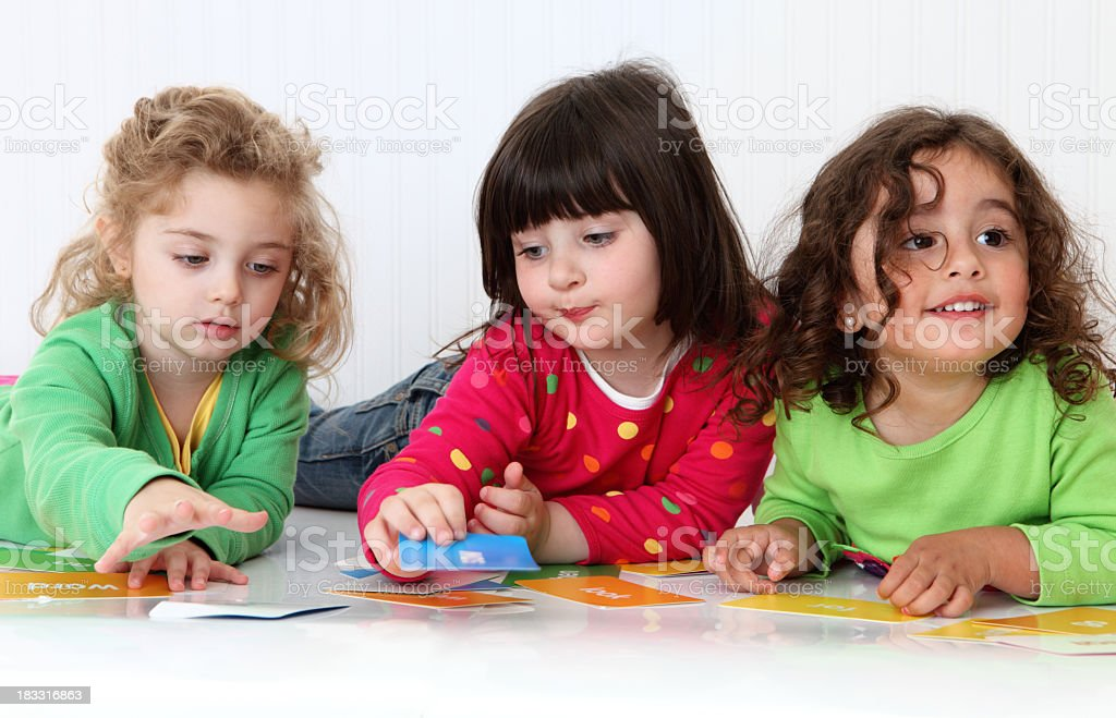 Encouraging Toddler Friendships royalty-free stock photo