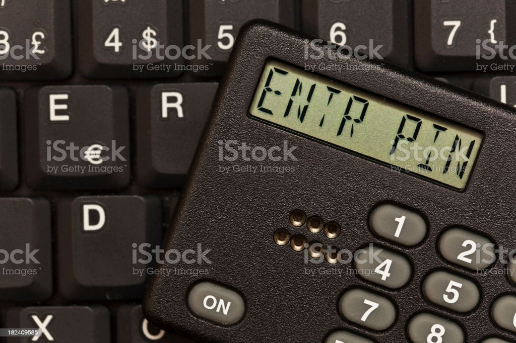 Encrypted access to laptop. Enter Pin Code. royalty-free stock photo