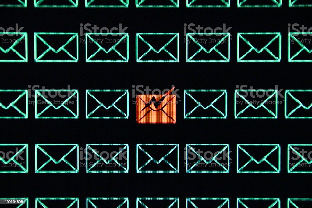 Encrypted Email stock photo