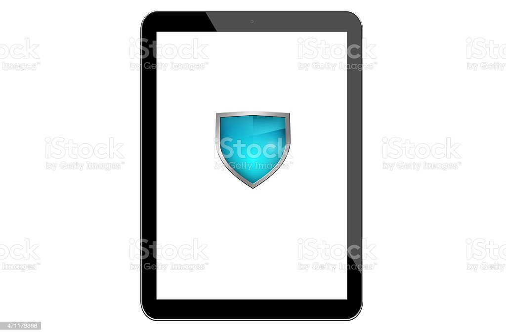 Encrypted Tablet stock photo
