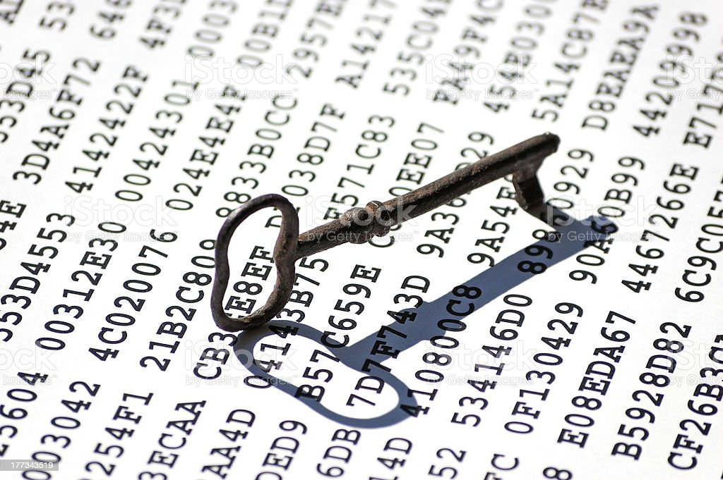 Encryption key concept royalty-free stock photo