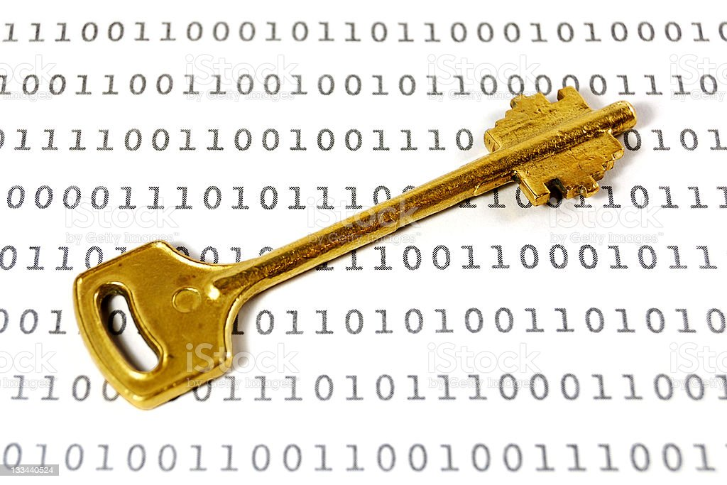 Encryption key royalty-free stock photo