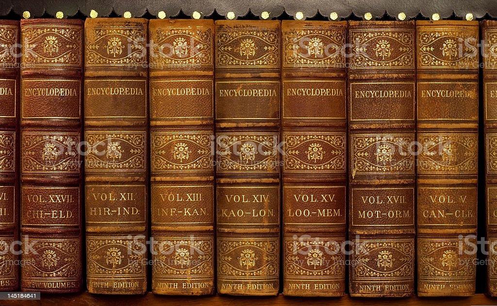 Encyclopedia books royalty-free stock photo