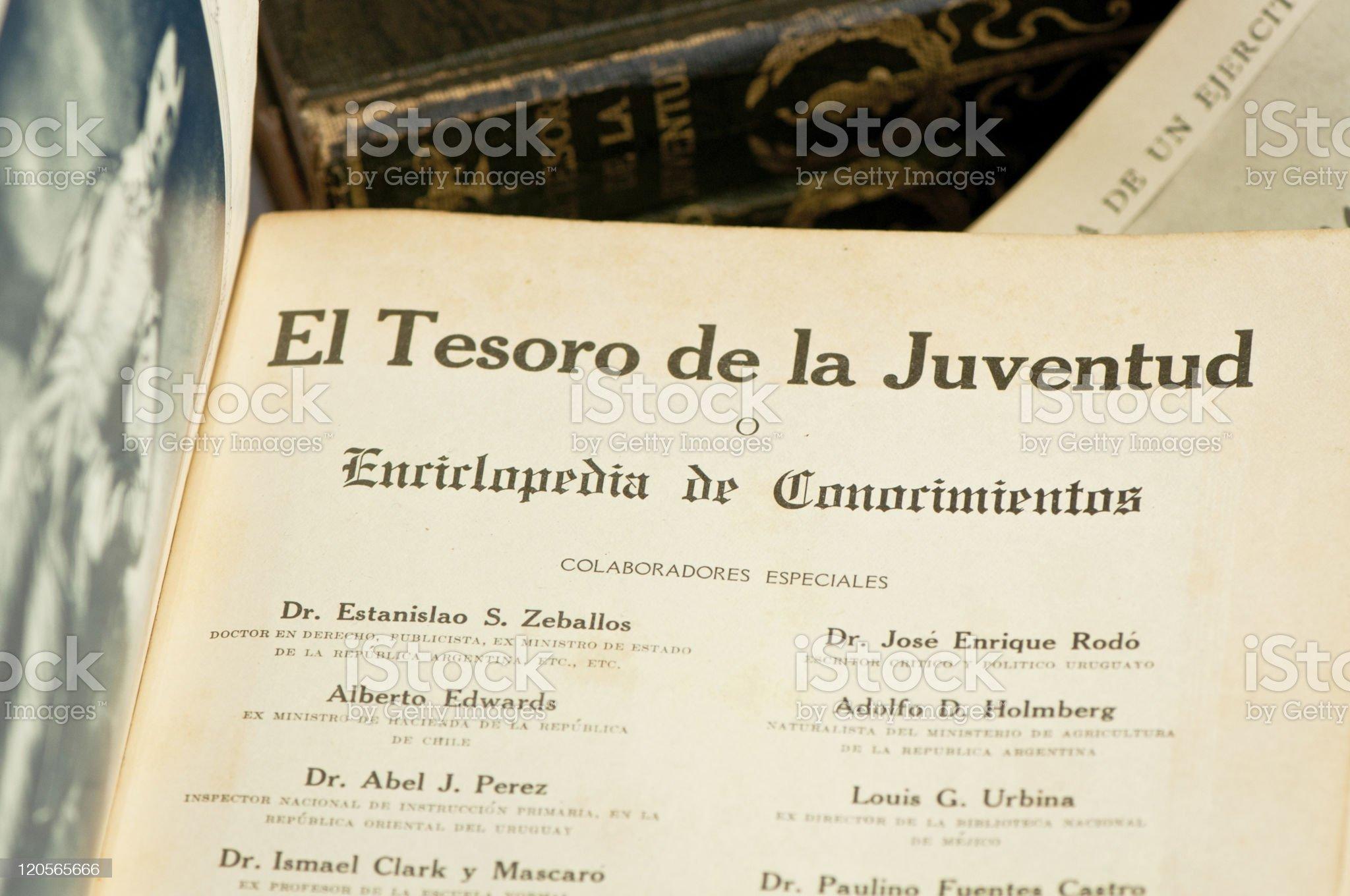 Encyclopedia treasure royalty-free stock photo
