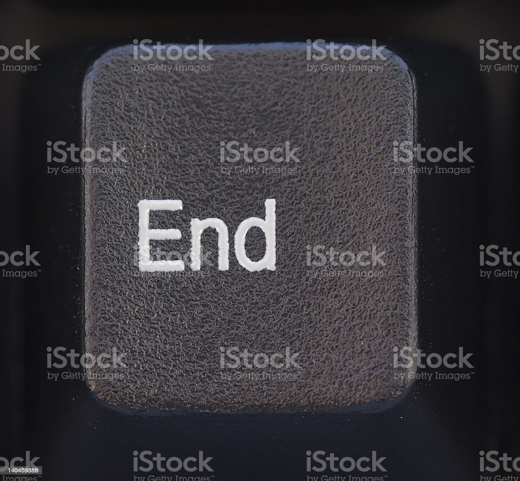 End Button royalty-free stock photo