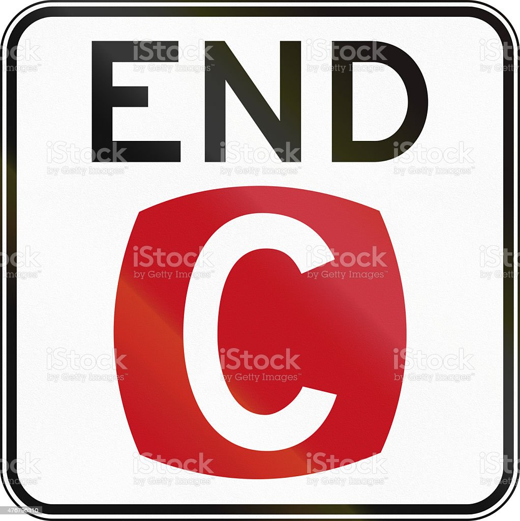 End Clearway In Australia stock photo
