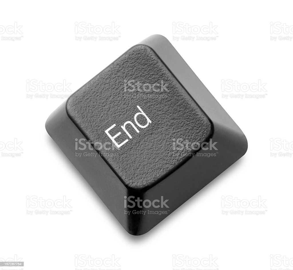 End Key stock photo