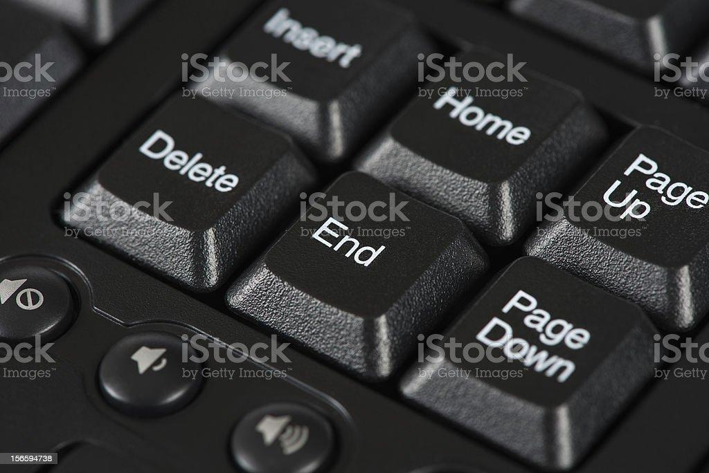End keyboard key royalty-free stock photo