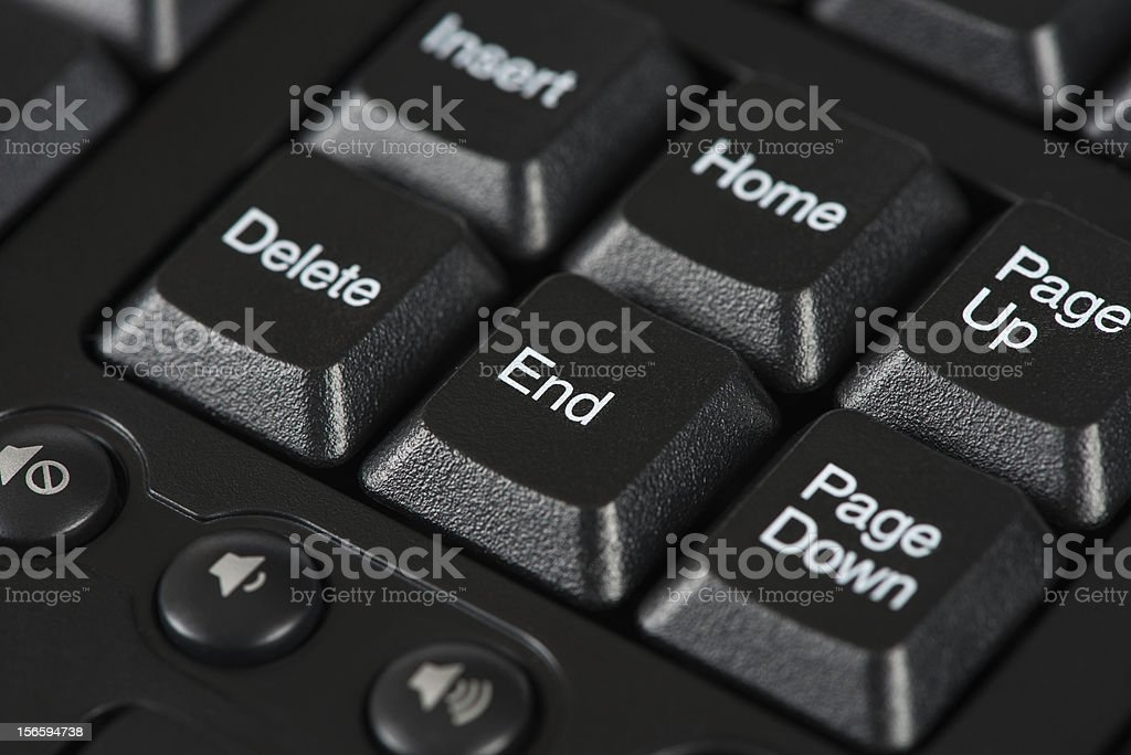 End keyboard key stock photo