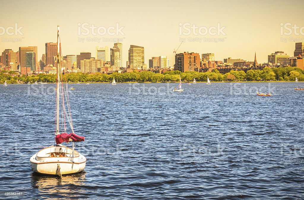 End of a beautiful day royalty-free stock photo