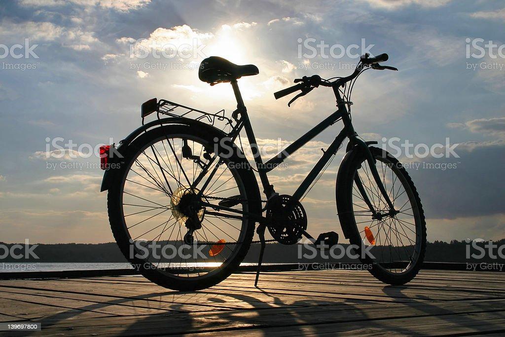 end of a bike trip #3 royalty-free stock photo