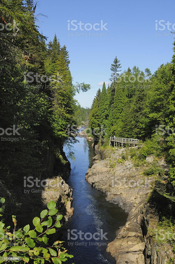 End of a blue canyon. stock photo