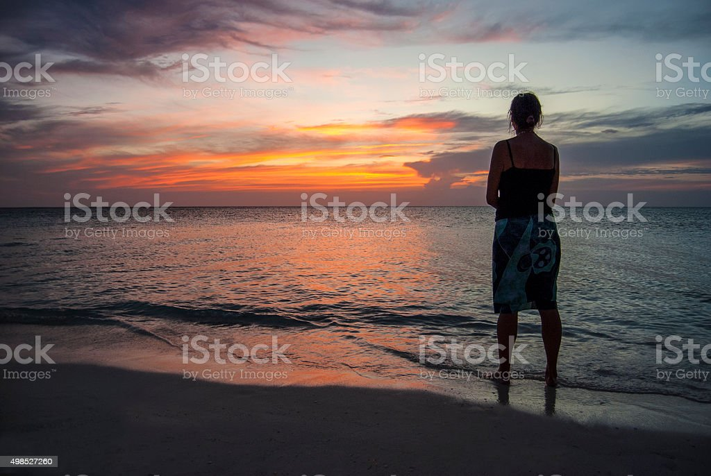End of and island day stock photo