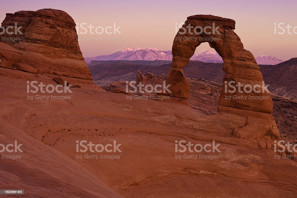 End of Day at Delciate Arch royalty-free stock photo