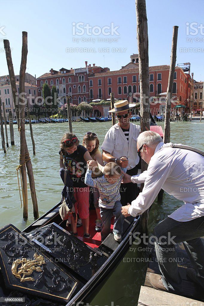 end of gondola ride royalty-free stock photo