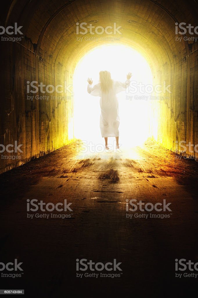 End Of Life Tunnel Concept stock photo