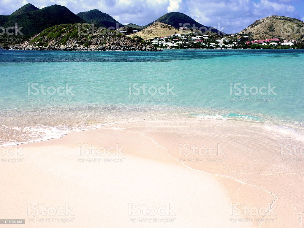 End of Pinel Island stock photo