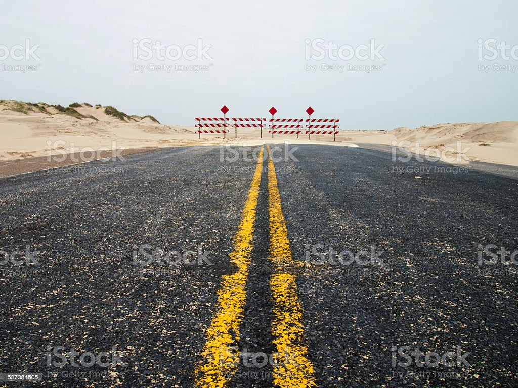 End of Road stock photo