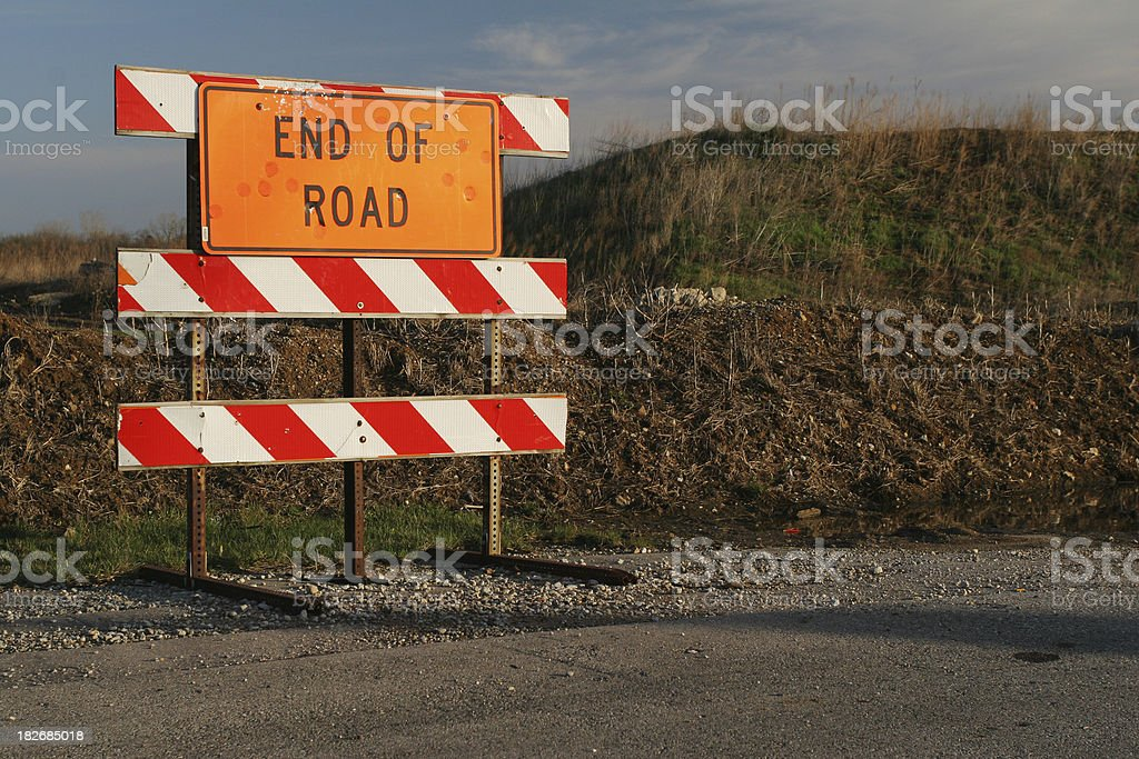 End Of Road sign, The End, Dead End stock photo
