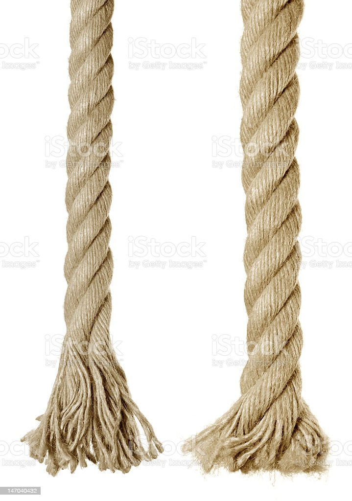 end of rope stock photo