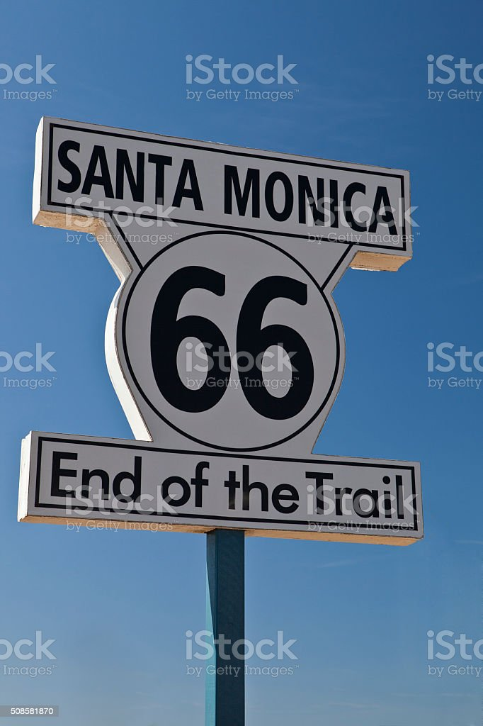 End of Route 66 stock photo