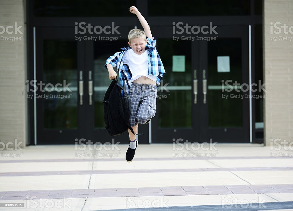 End of school stock photo
