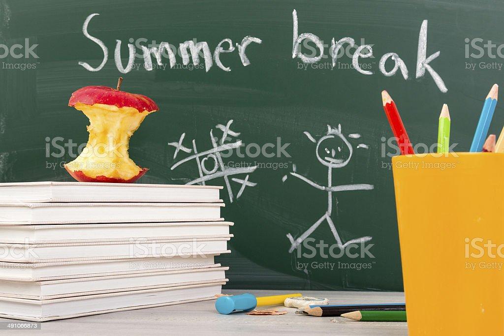 End of school. Summer break time. stock photo