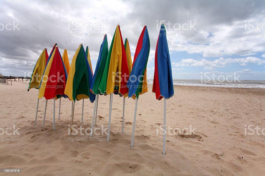 End of Season - Beach stock photo