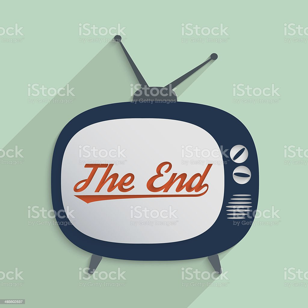 End of story stock photo