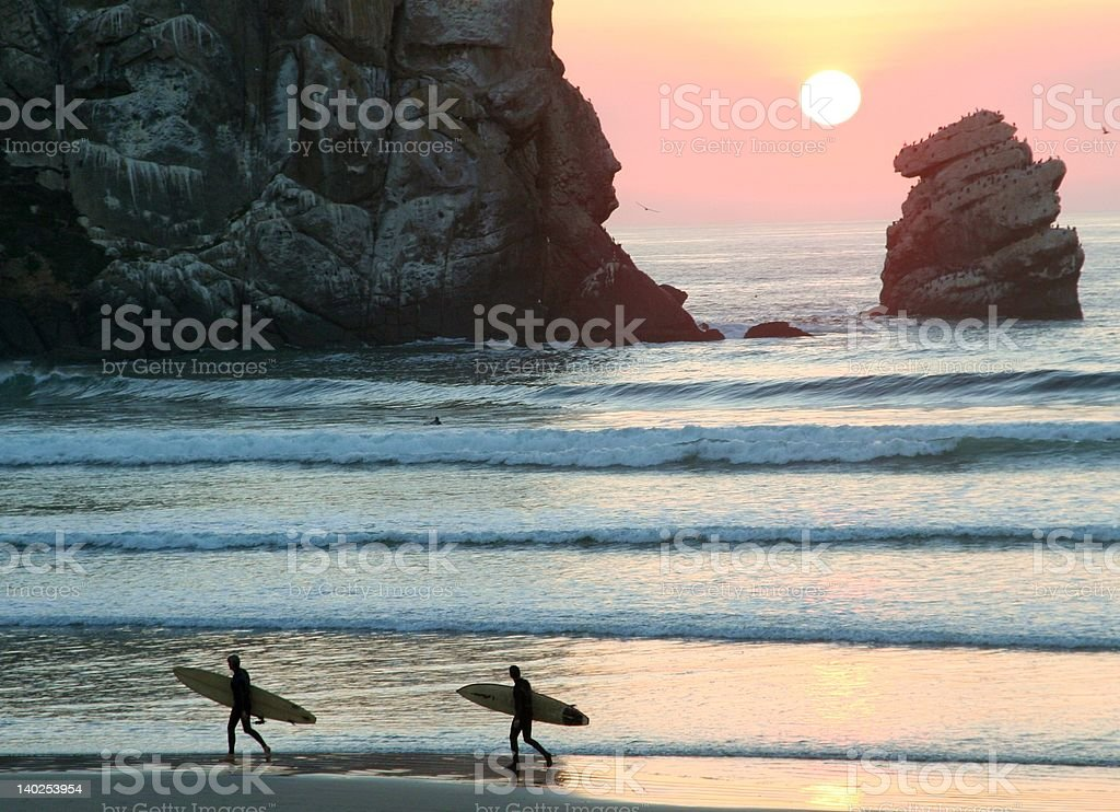 End of Surf Day stock photo