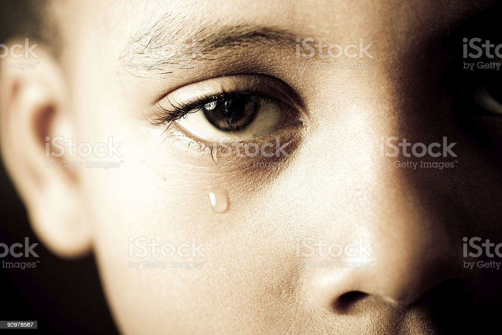 end of tears stock photo