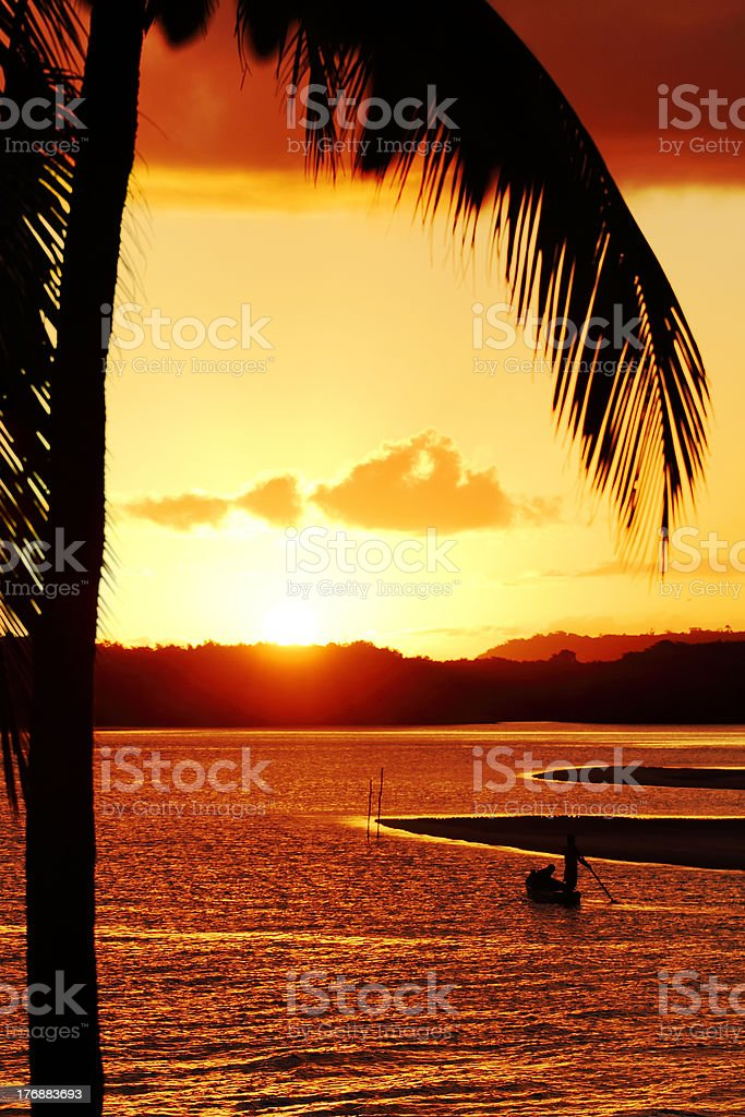 End of the day in Bahia - Brazil. stock photo