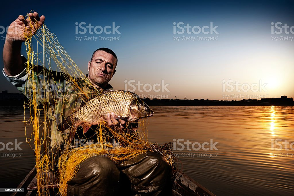 End of the fishing day royalty-free stock photo