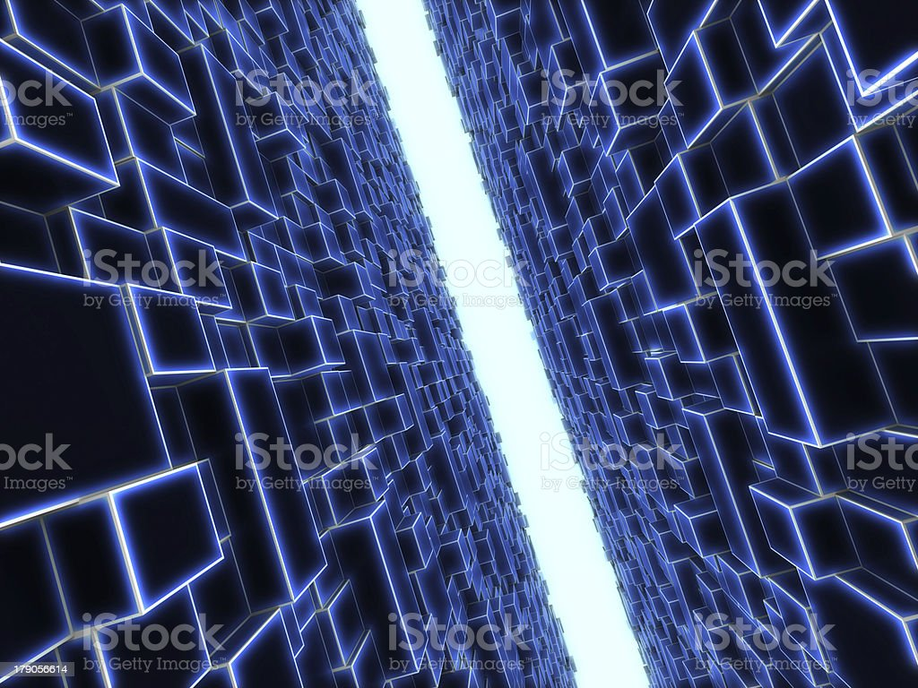 end of the passageway royalty-free stock photo