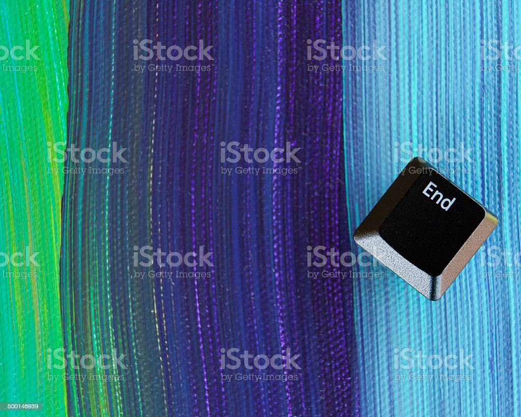 'end' of the rainbow stock photo