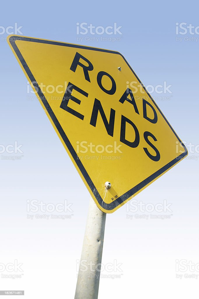 End of the Road royalty-free stock photo
