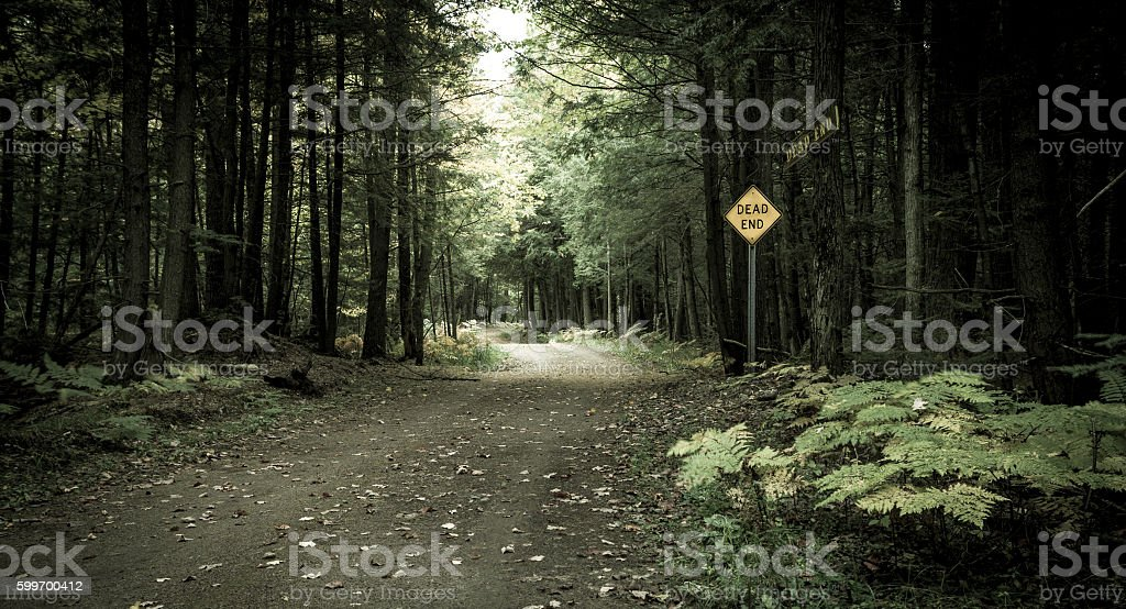 End Of The Road stock photo