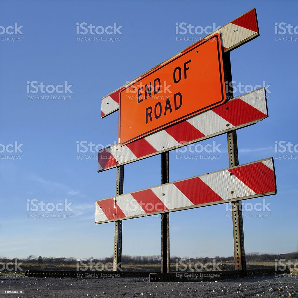 End of the Road Sign royalty-free stock photo