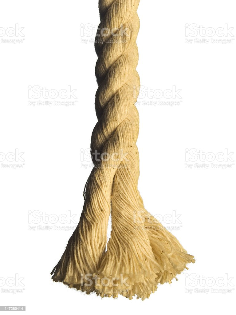 End of the rope stock photo