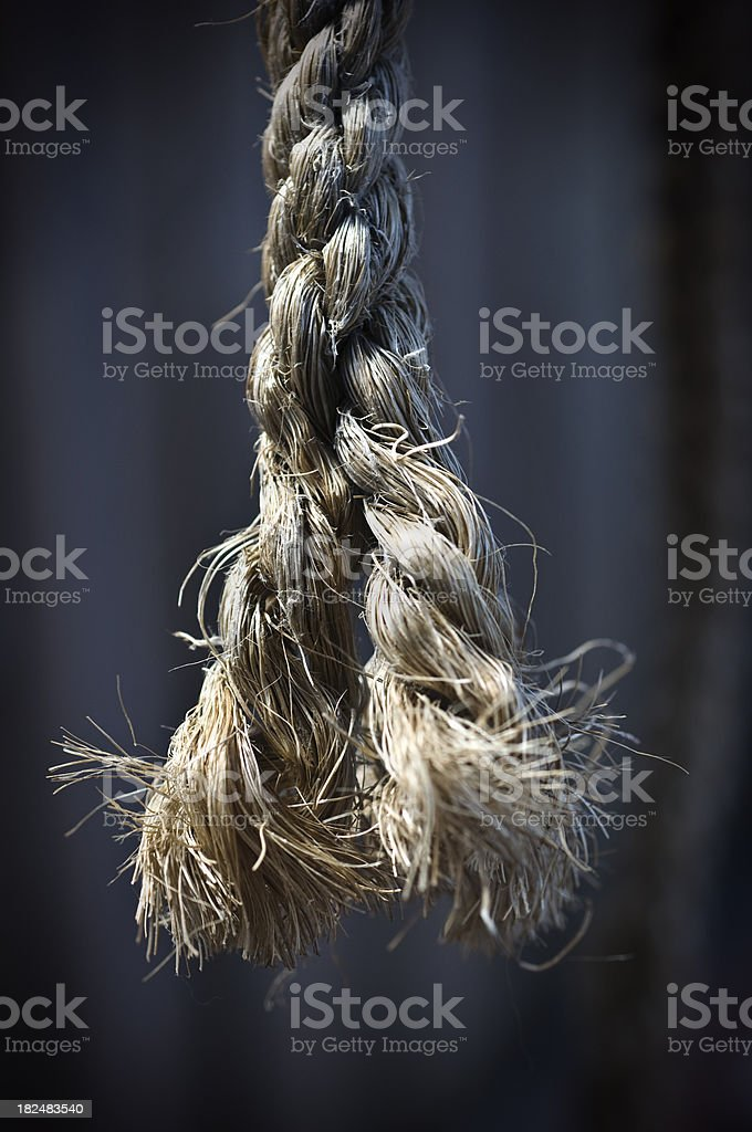 end of the rope royalty-free stock photo