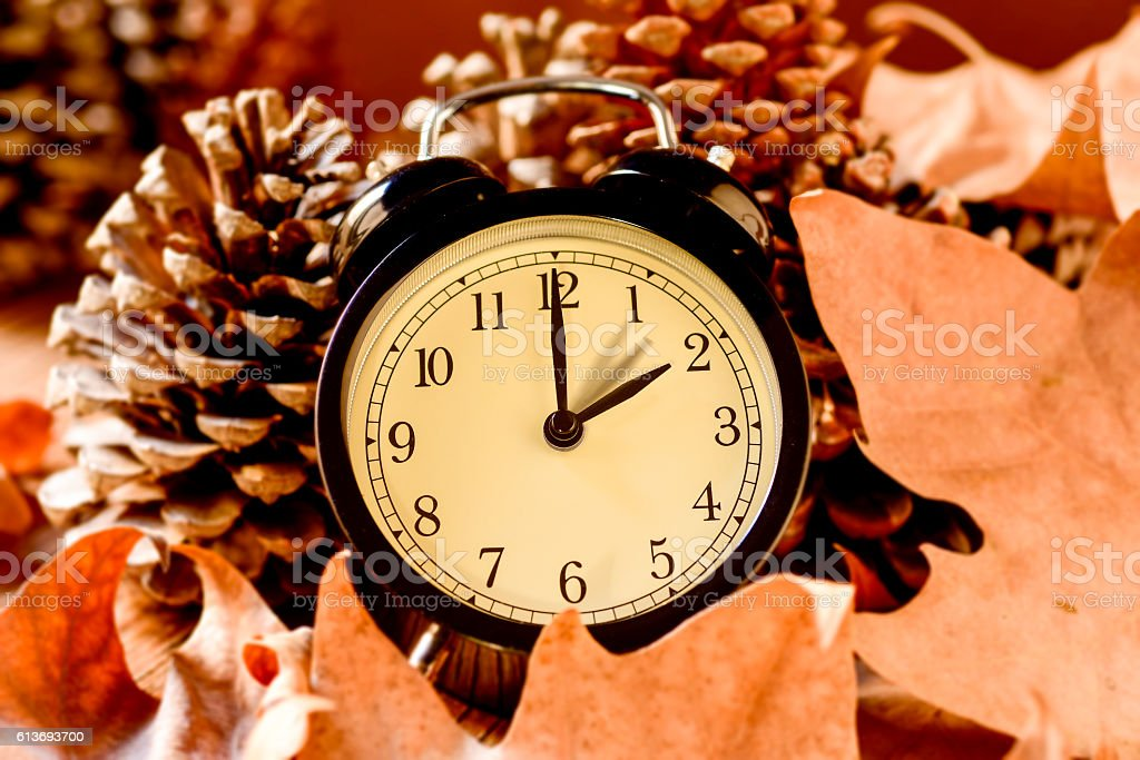 end of the summer svaing time stock photo