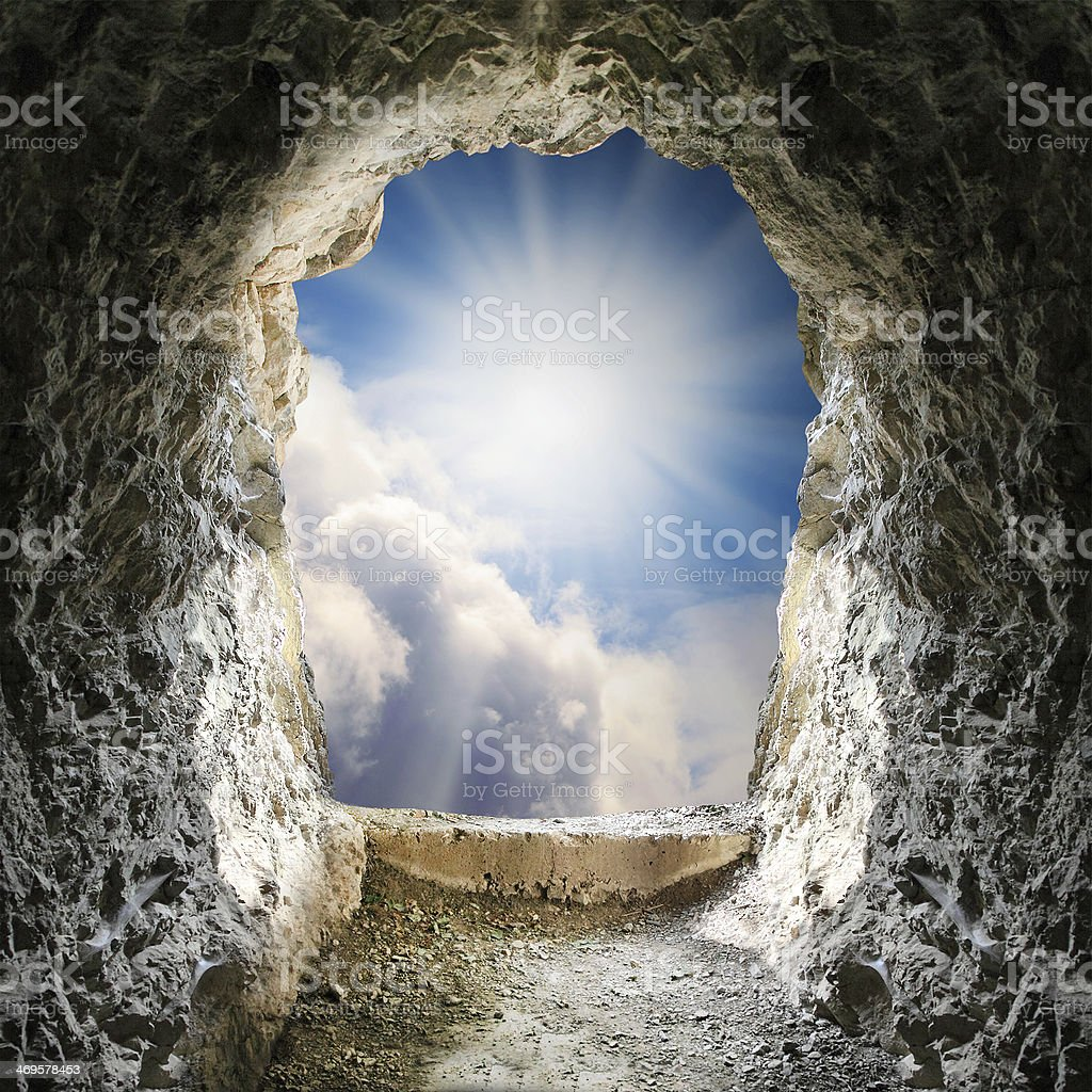 End of the tunnel. stock photo