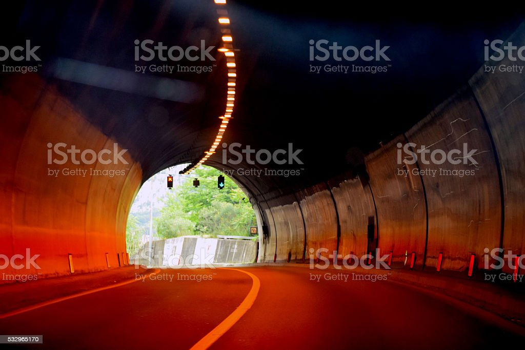 End of the Tunnel stock photo