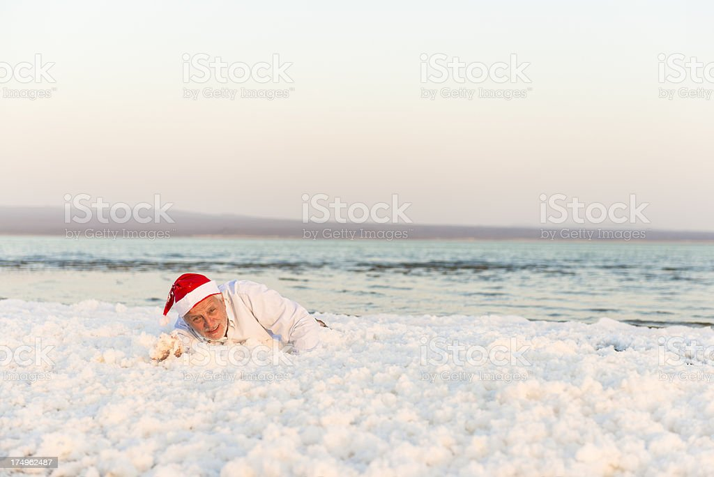 End of the vacation for Santa stock photo
