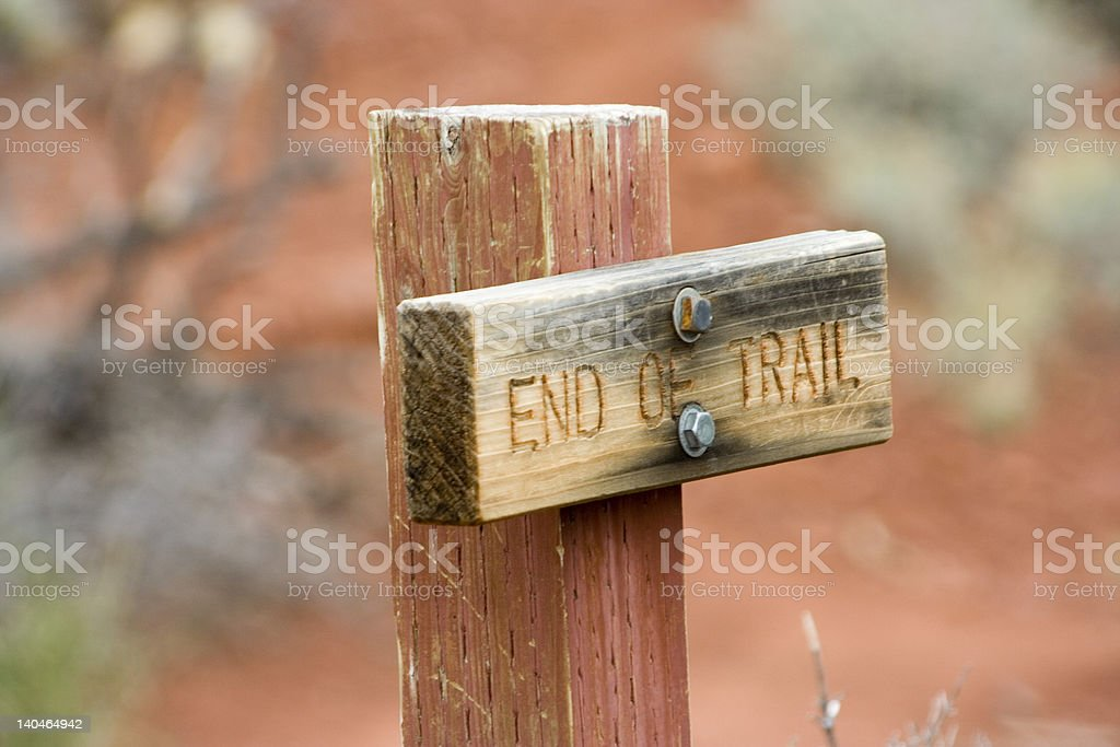 End of trail royalty-free stock photo