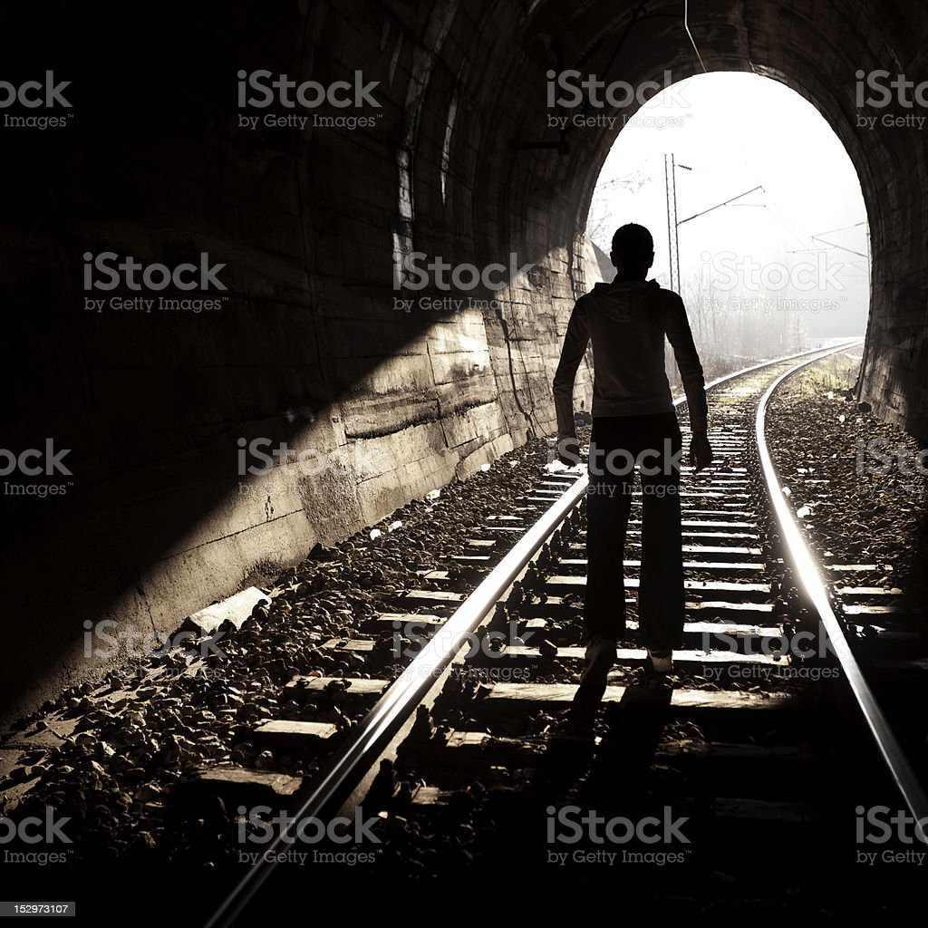 End of Tunnel royalty-free stock photo