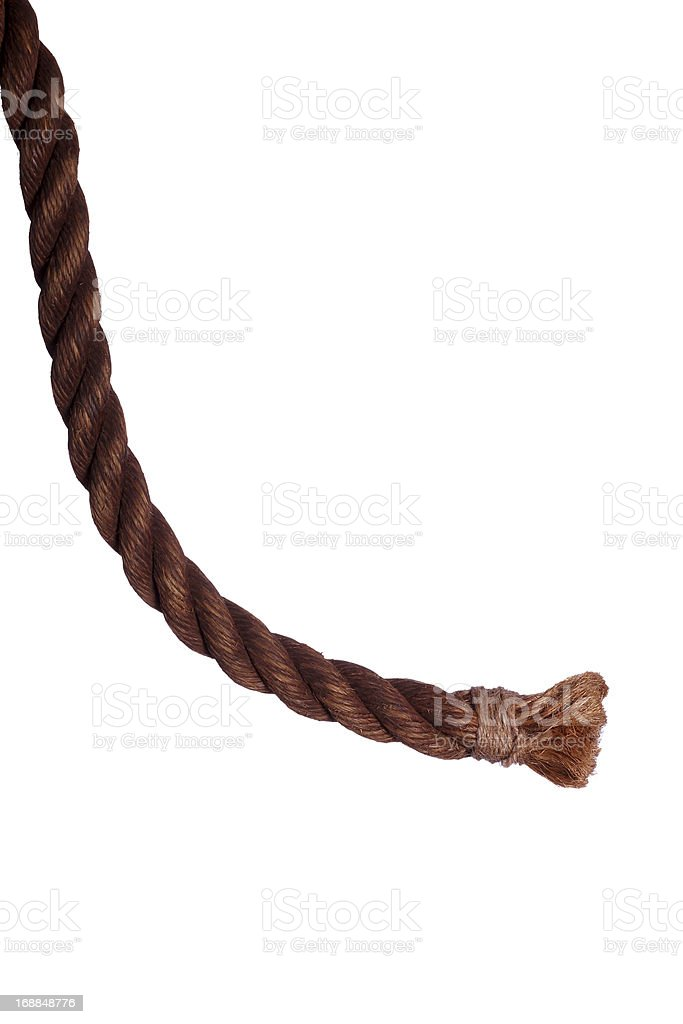 end of very old rope royalty-free stock photo