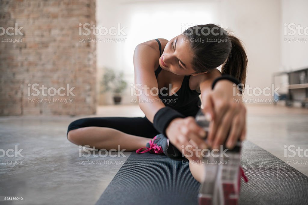 End of workout session stock photo