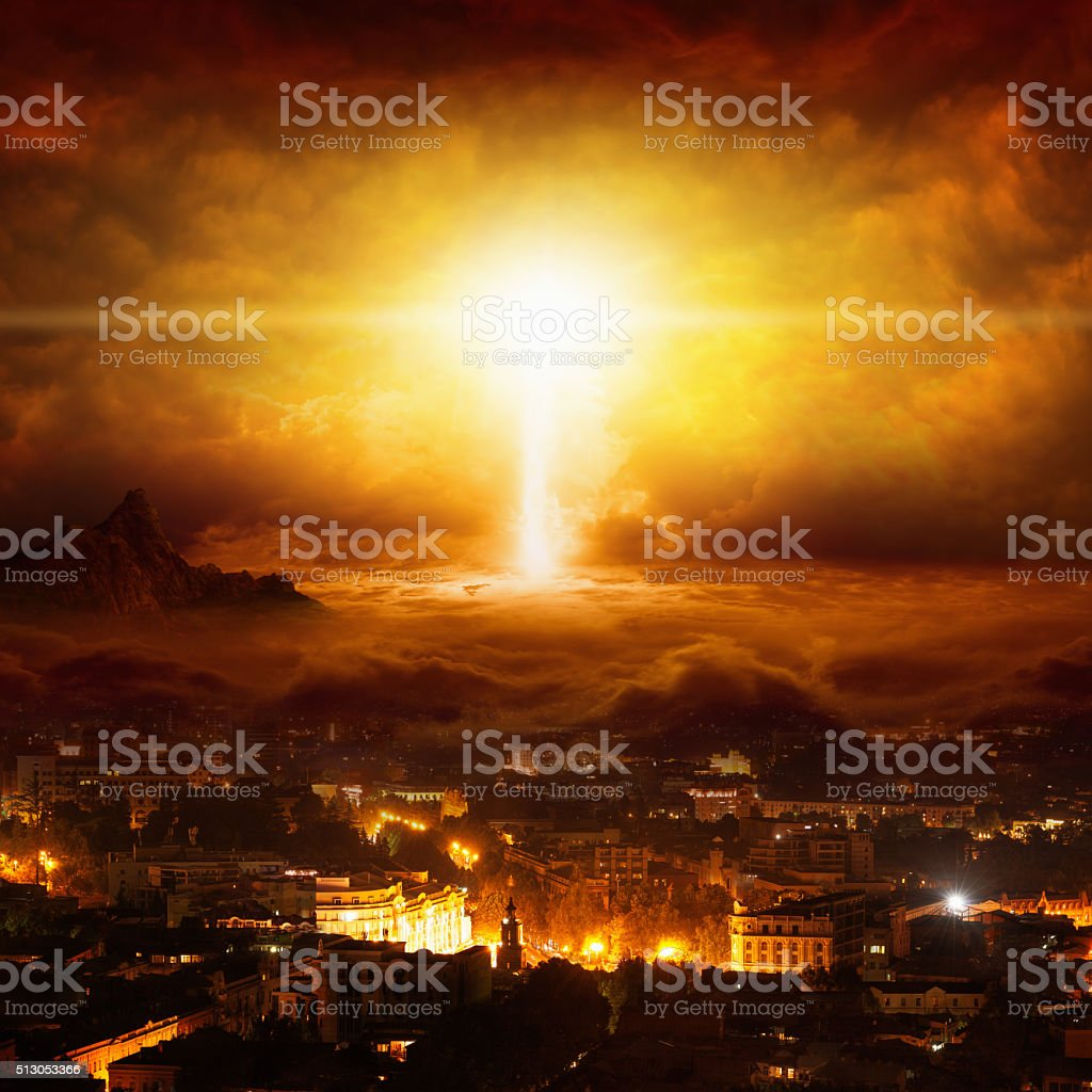 End of world stock photo